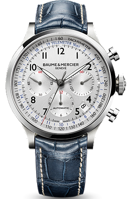 Baume & Mercier blue Capeland watch