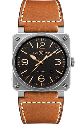 Bell & Ross BR 03-92 Golden Heritage   BR0392-ST-G-HE/SCA at Tourneau