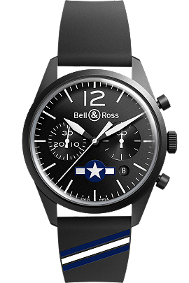 Bell & Ross BR126- Carbon Air Force Insignia
