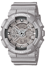 Casio G-Shock GA110BC-8A is a big-case timepiece with a distinctive face design.  It really stands out with its lustrous finish.