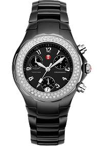Michele Watches - Tahitian Black Ceramic Diamond watch