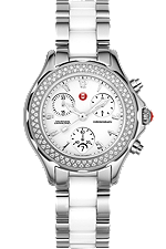 Michele Watches - Tahitian White Ceramic Combo Diamond