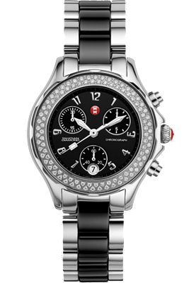 Michele Watches - Tahitian Black Ceramic Combo Diamond