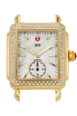 Michele Watches - Deco Diamond Gold watch