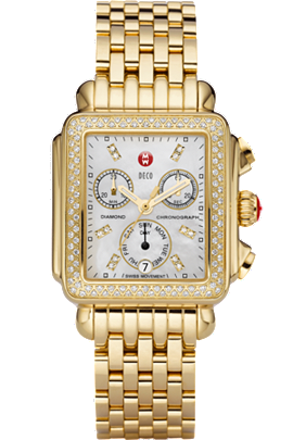 Gold Deco Day Diamond Dial at Tourneau