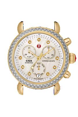 Michele Watches 0 CSX- 36 Day Diamond Two-Tone & Diamond Dial