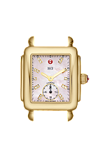 Deco 16 Gold Pink Diamond Watch Head at Tourneau