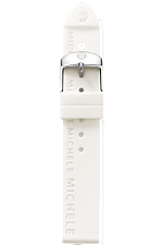18mm White Silicon Strap at Tourneau
