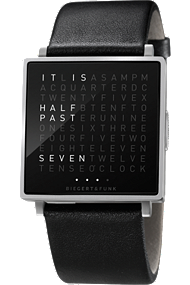 QLOCKTWO W Stainless Steel w Rubber at Tourneau
