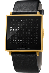 QLOCKTWO W Brushed Gold at Tourneau