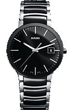 Rado Centrix Large Quartz Black Dial | R30934162 at Tourneau