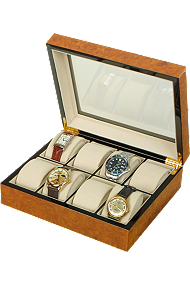 Rapport 8-Unit Walnut Collector Box at Tourneau
