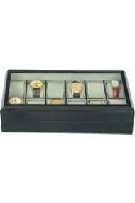 Rapport 12-Unit Ebony Collector Box at Tourneau