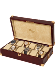 Rapport Captains 12-Unit Mahogany Collector Box at Tourneau