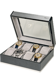 Rapport Carbon Fibre and Aluminum 8-Unit Watch Box at Tourneau