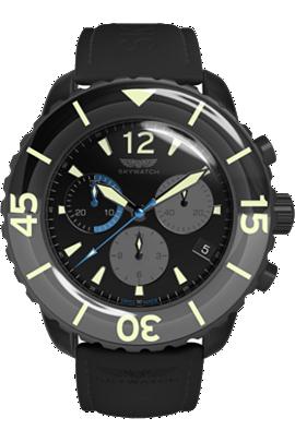 Skywatch | 44mm Chrono Black IP | CCI019 at Tourneau