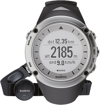Suunto Ambit watch-HR Silver