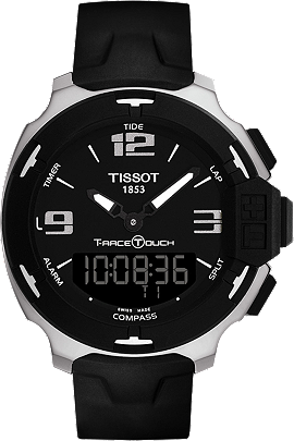 T-Race Touch Men's Black and Silver Quartz Watch With Black Synthetic Strap at Tourneau