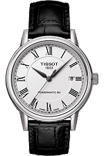 Carson Men's  Automatic White Classic Watch with Black leather strap at Tourneau