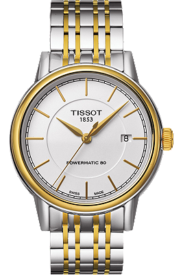 Carson Men's Automatic Gold Tone Classic Watch - White Dial and Two-Tone Bracelet at Tourneau
