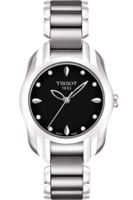 T-Wave Round Women's Black Diamonds Quartz Trend at Tourneau