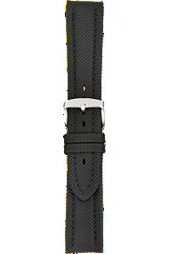 18 mm Black Kevlar Grain Leather Strap at Tourneau