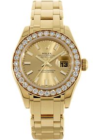 18K Yellow Gold Datejust Pearlmaster Automatic at Tourneau