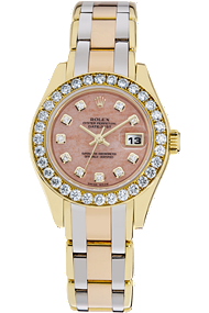 18K Tri-Gold Datejust Pearlmaster Automatic at Tourneau